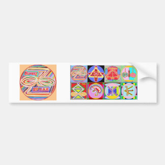 ZONAR - Símbolo de Karuna Reiki de Navin Joshi Etiqueta De Parachoque