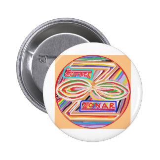 ZONAR - Símbolo de Karuna Reiki de Navin Joshi Pin Redondo 5 Cm