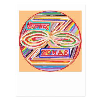 ZONAR - Símbolo de Karuna Reiki de Navin Joshi Tarjeta Postal