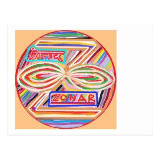 ZONAR - Símbolo de Karuna Reiki de Navin Joshi Tarjetas Postales