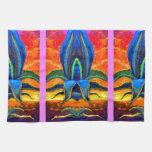 Zonas tropicales azules del agavo por los sharles toalla de cocina