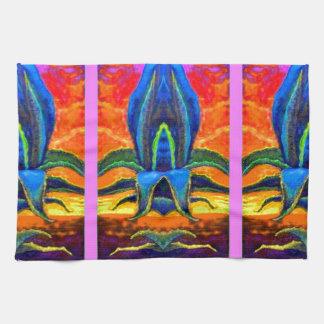 Zonas tropicales azules del agavo por los sharles toallas de mano