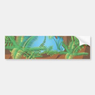 Zonas tropicales etiqueta de parachoque