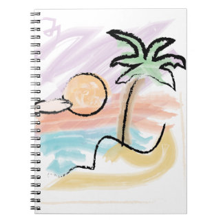 Zonas tropicales libro de apuntes con espiral