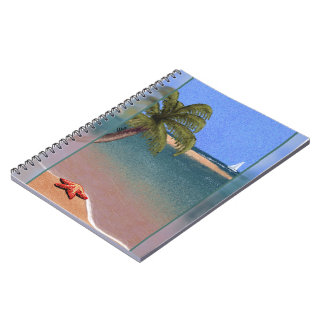 Zonas tropicales de la estrella de mar (diario) spiral notebook