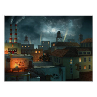 Zone Industrielle - Night Poster