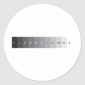 Zone System Classic Round Sticker