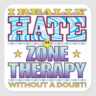Zone Therapy Hate Face Square Sticker