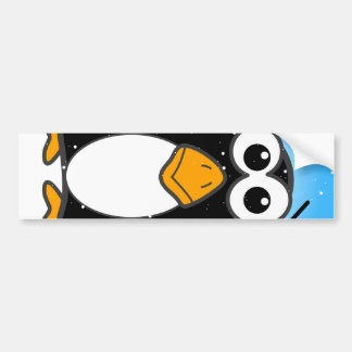Zoned Out Penguin Car Bumper Sticker