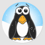Zoned Out Penguin Classic Round Sticker