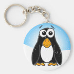 Zoned Out Penguin Key Chain