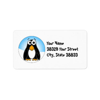 Zoned Out Penguin Label