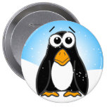 Zoned Out Penguin Pin