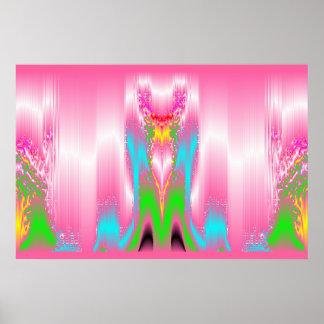 Zones de Caresses Roses Poster
