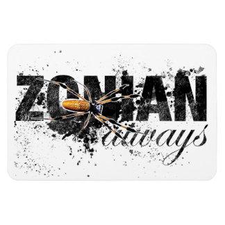 Zonian siempre con la araña (texturizada) iman
