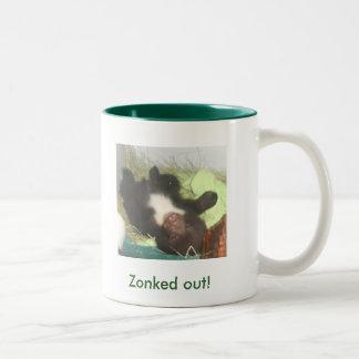 'Zonked out!' Two-Tone Mug