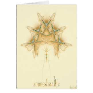 zonnestraaltje tarjeta de felicitación
