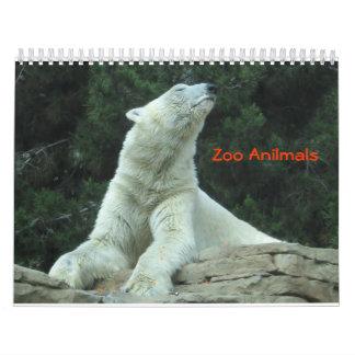 Zoo Anilmals Wall Calendars