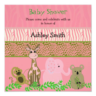 Zoo Animal Baby Shower Invitation