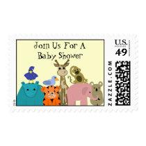 Zoo Animal Baby Shower Postage