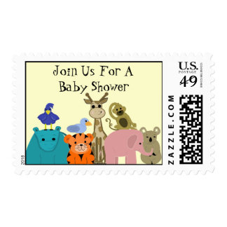 Zoo Animal Baby Shower Postage