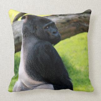 Zoo Animal Silverback Gorilla Throw Pillow Gift