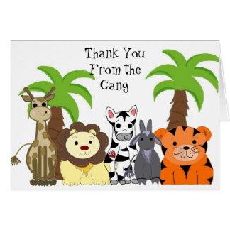 Zoo Animal Thank You Card