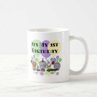 Zoo Animals 1st Birthday Tshirts and Gifts Coffee Mugs