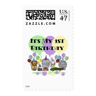 Zoo Animals 1st Birthday Tshirts and Gifts Postage