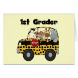 Zoo Animals 1st Grade Tshirts and Gifts Greeting Card
