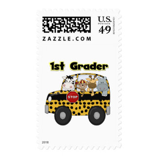 Zoo Animals 1st Grade Tshirts and Gifts Postage Stamp