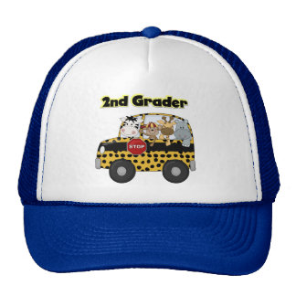 Zoo Animals 2nd Grade Tshirts and Gifts Trucker Hat