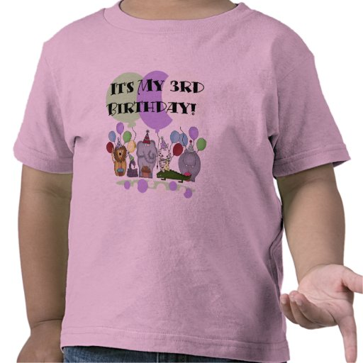 Zoo Animals 3rd Birthday Tshirts and Gifts