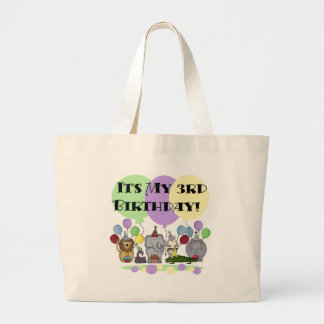 Zoo Animals 3rd Birthday Tshirts and Gifts Canvas Bags
