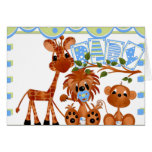 Zoo Animals Baby Cards, Stickers, Postcards