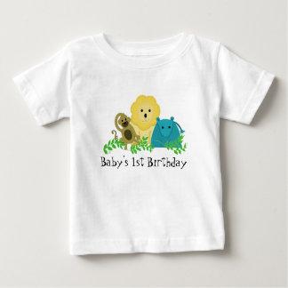 Zoo Animals Baby's 1st Birthday Shirts