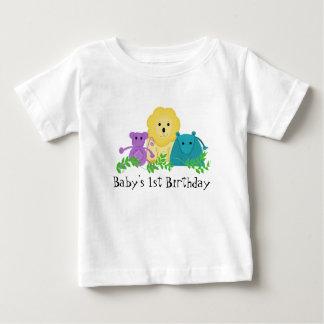 Zoo Animals Baby's 1st Birthday T Shirts