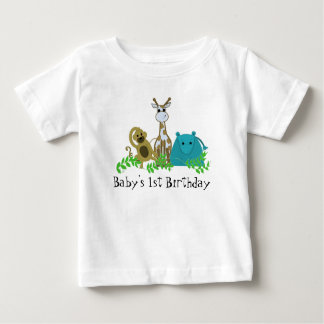 Zoo Animals Baby's 1st Birthday Tshirts