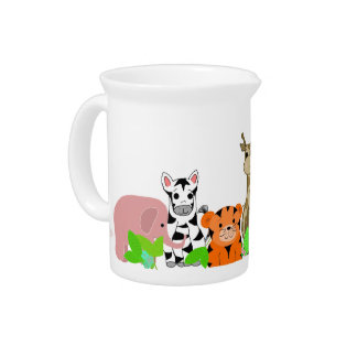 Zoo Animals Beverage Pitcher