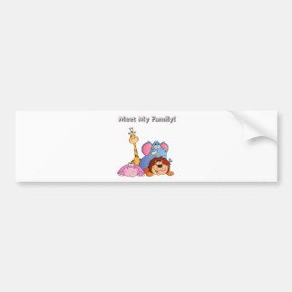 Zoo Animals Bumper Sticker