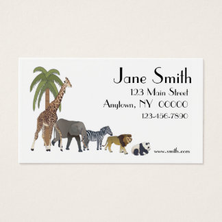 Zoo Animals Business Card
