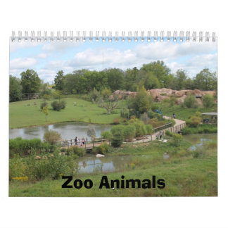 Zoo Animals Calander Calendar