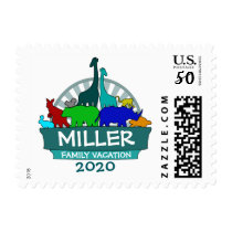 Zoo animals customizable family reunion stamps