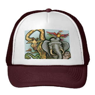 Zoo Animals Mesh Hat