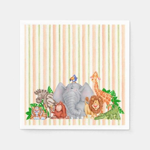 Zoo Animals - Napkins Disposable Napkin