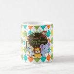 Zoo Animals on Colorful Argyle Mug