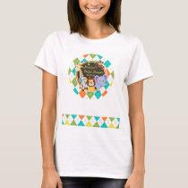Zoo Animals on Colorful Argyle T-Shirt