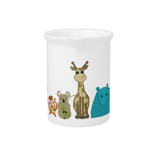 Zoo Animals Pitcher