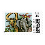 Zoo Animals Postage Stamps