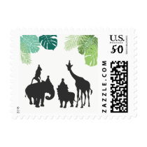 Zoo animals Postage Stamps Safari Jungle birthday